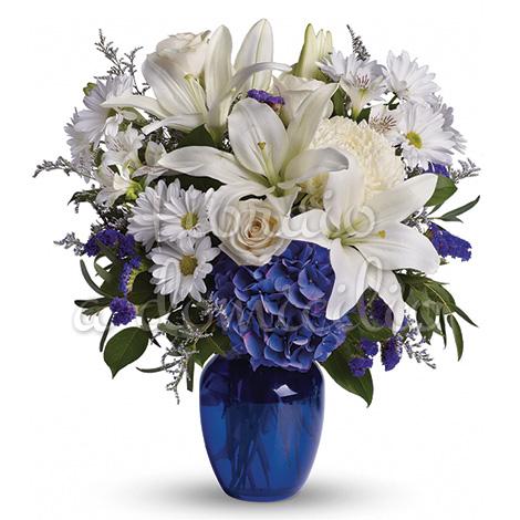 bouquet_di_gigli_margherite_rose